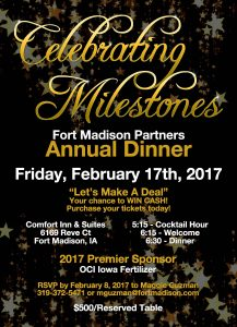 Fort Madison Partners Annual Dinner @ Comfort Inn & Suites