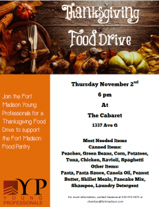 Young Professionals Food Drive @ The Cabaret | Fort Madison | Iowa | United States