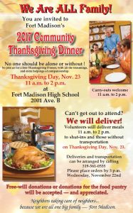Community Thanksgiving @ Fort Madison High School | Fort Madison | Iowa | United States